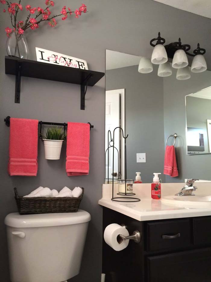 Over The Toilet Bathroom Storage System #overtoiletstorage #storage #toilet #decorhomeideas
