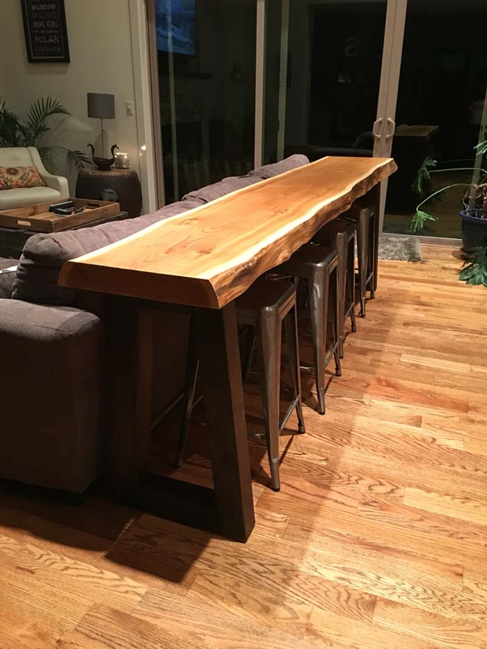 Pacific Forest Refinished Slab Table #sofatable #decorhomeideas