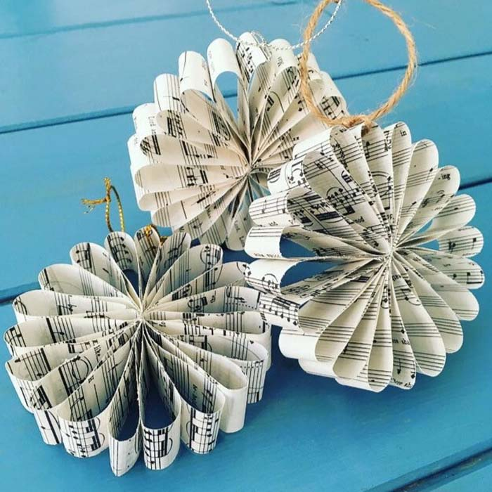 Paper Christmas Tree Ornament #Christmas #ornaments #rustic #decorhomeideas
