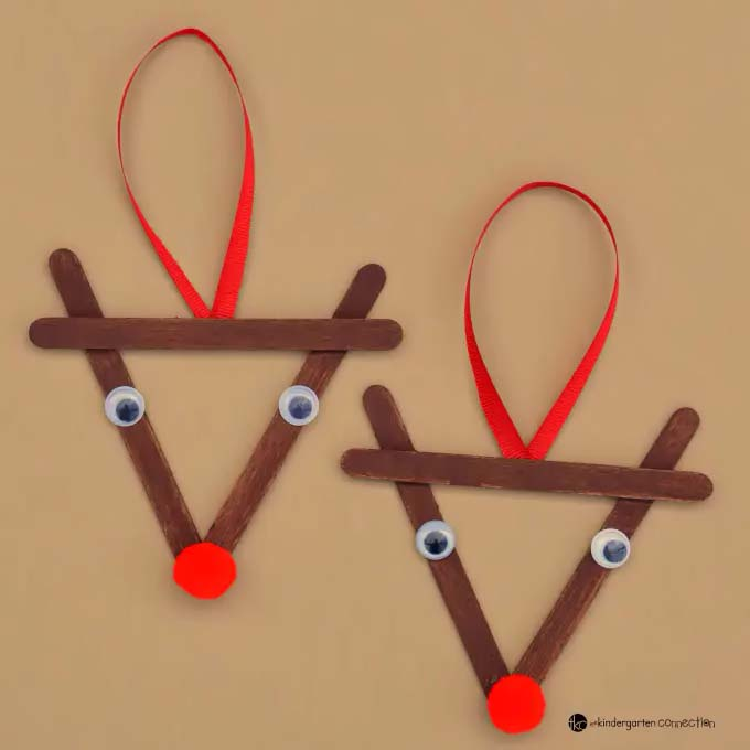 Popsicle Stick Reindeer Kid Christmas Ornament #Christmas #ornaments #kids #diy #decorhomeideas