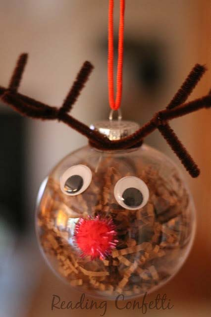 Reindeer Ornament #Christmas #ornaments #kids #diy #decorhomeideas