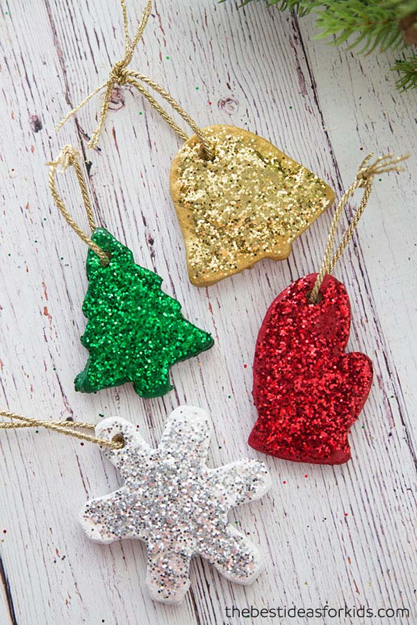 Salt Dough Christmas Ornaments #Christmas #ornaments #kids #diy #decorhomeideas