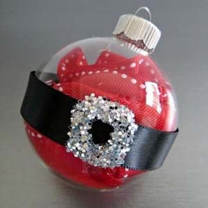 Santa Belt Buckle #Christmas #ornaments #kids #diy #decorhomeideas