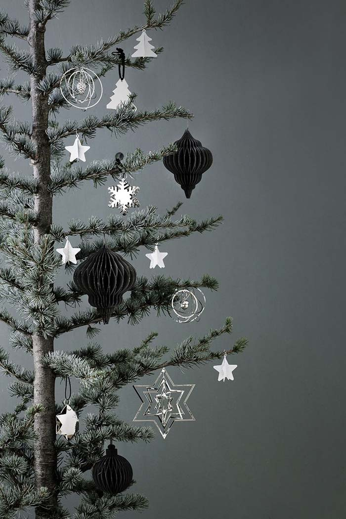 Scandinavian Tree Ornaments #Christmas #minimalist #decor #decorhomeideas