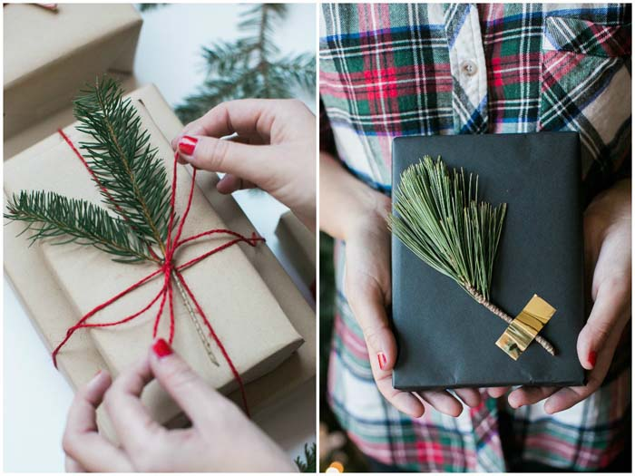 Simple Holiday Gift Wrapping #Christmas #minimalist #decor #decorhomeideas