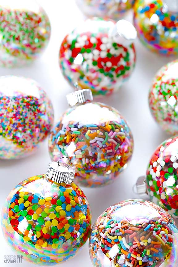 Sprinkles Ornaments #Christmas #ornaments #kids #diy #decorhomeideas