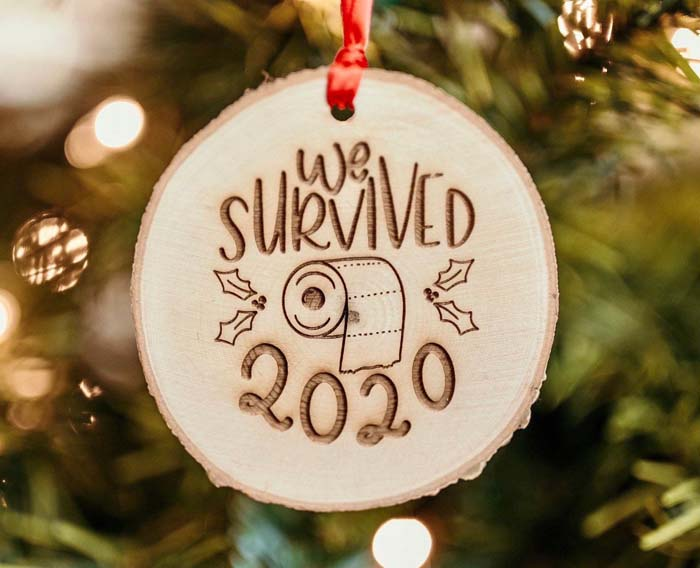We Survived 2020 Christmas Ornament #Christmas #ornaments #rustic #decorhomeideas