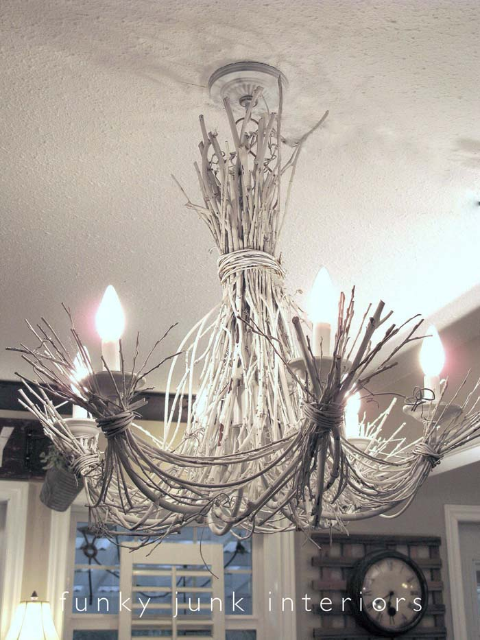 Winter Palace Sculpted Twig Chandelier #branches #homedecor #decorhomeideas