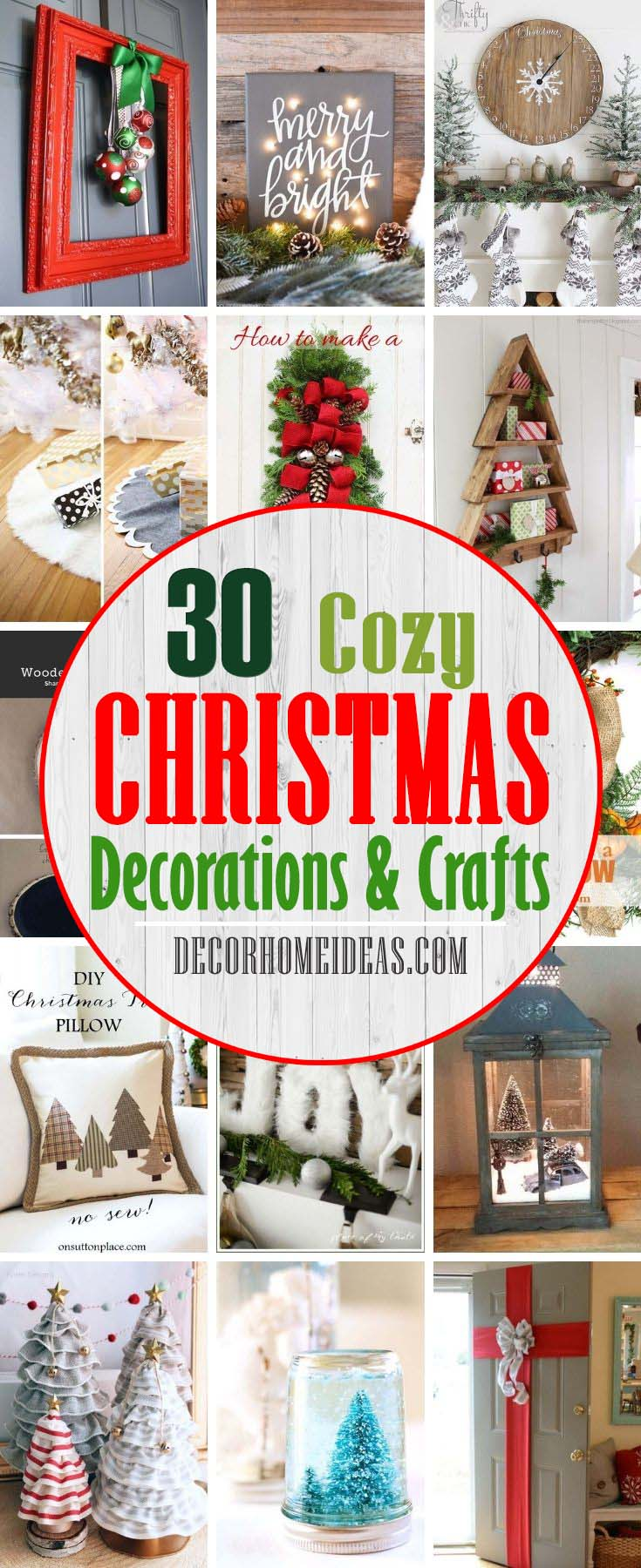 Best Christmas Decorations And Crafts. From easy-to-make Christmas ornaments to simple Christmas table decorations and even show-stopping DIY holiday wreaths, there's something here for every taste and skill set. #decorhomeideas
