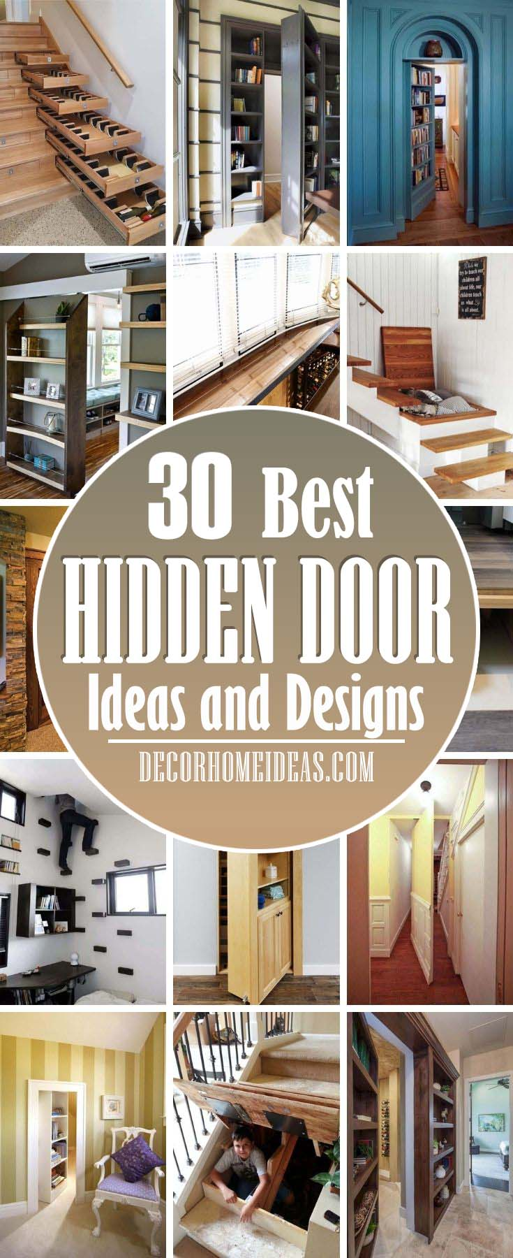 Best Clever Hidden Door Ideas. Discover a bit of fun and mystery with the top 50 best hidden door ideas. Explore entrances to secret rooms featuring hinged bookcases to walls and beyond. #decorhomeideas