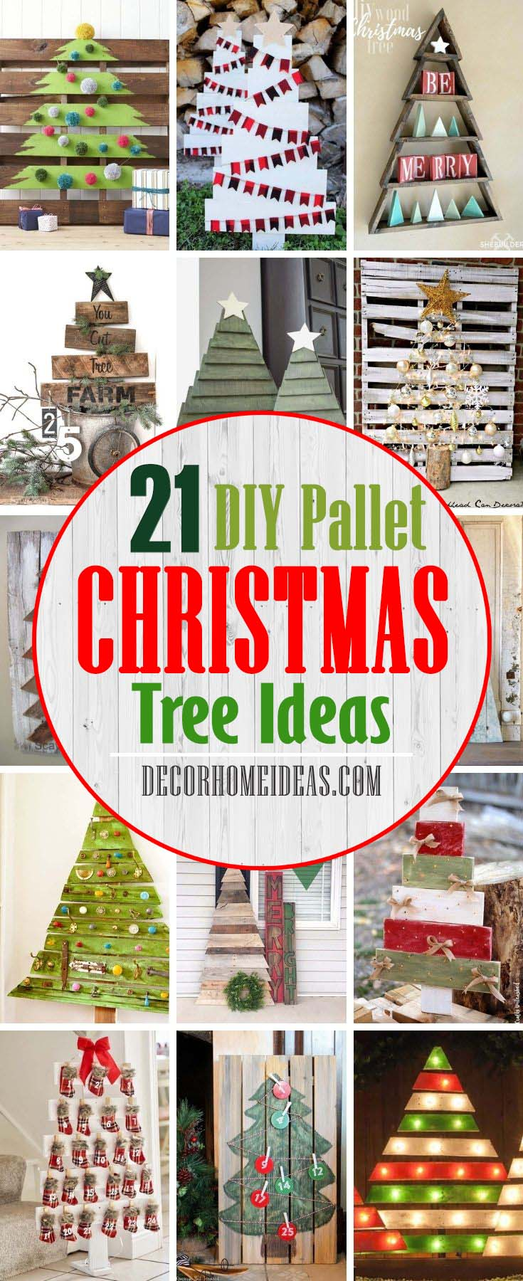 Best DIY Pallet Christmas Tree Ideas. Making. Making DIY pallet Christmas tree is great for the environment because it's making use of scrap wood that would otherwise be thrown out. You'll find your favorite one or make your own version.