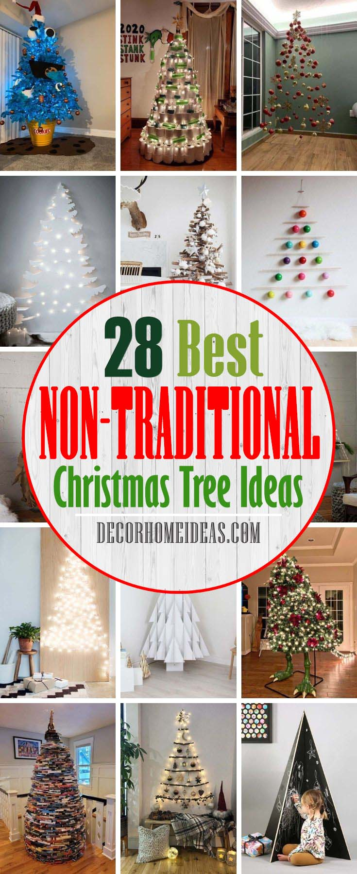 Best Non-Traditional Christmas Tree Ideas. These Christmas tree alternatives might stray away from the norm, but they're poised to add some personality to any space and spark your creativity for your own Christmas tree project this year. #decorhomeideas