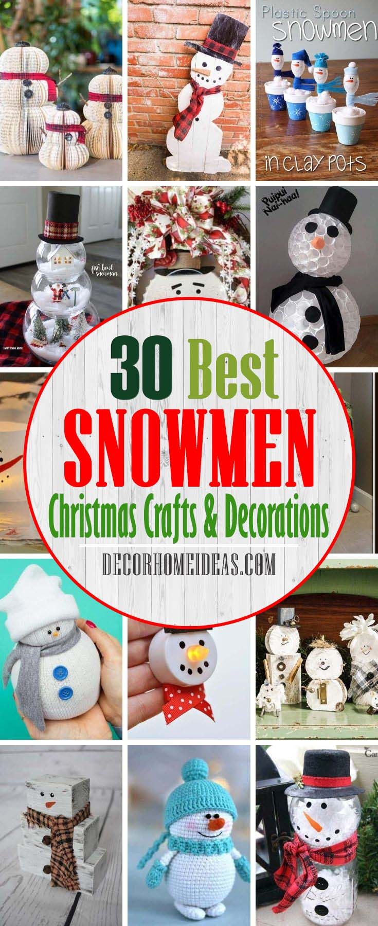 Best Snowmen Craft Ideas And Decorations. This winter, try out these snowman craft ideas that are perfect for kids, preschoolers, and adults. You could even make these DIY projects with the intent to sell them at craft shows. #decorhomeideas