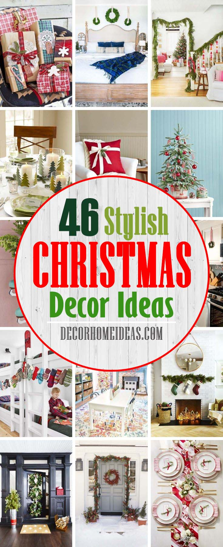 Best Stylish Christmas Decor Ideas. To help kick-start your inspiration, feast your eyes on these divine Christmas decorating ideas here. From pared-down wrapping paper to glitzy accessories to an innovative alternative to your favorite holiday staples, you'll find something to make your spirits merry and bright. #decorhomeideas
