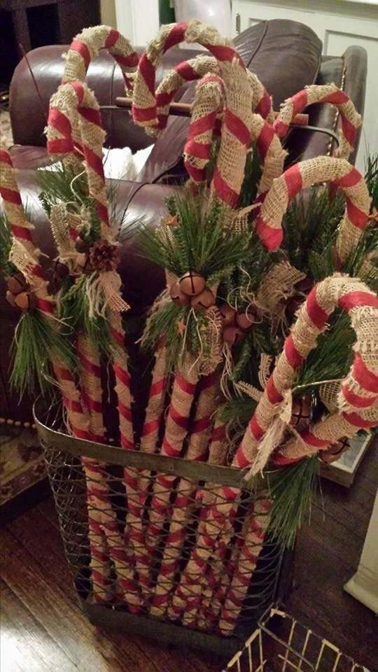 Candy Cane Forest #Christmas #indoordecorations #decorhomeideas