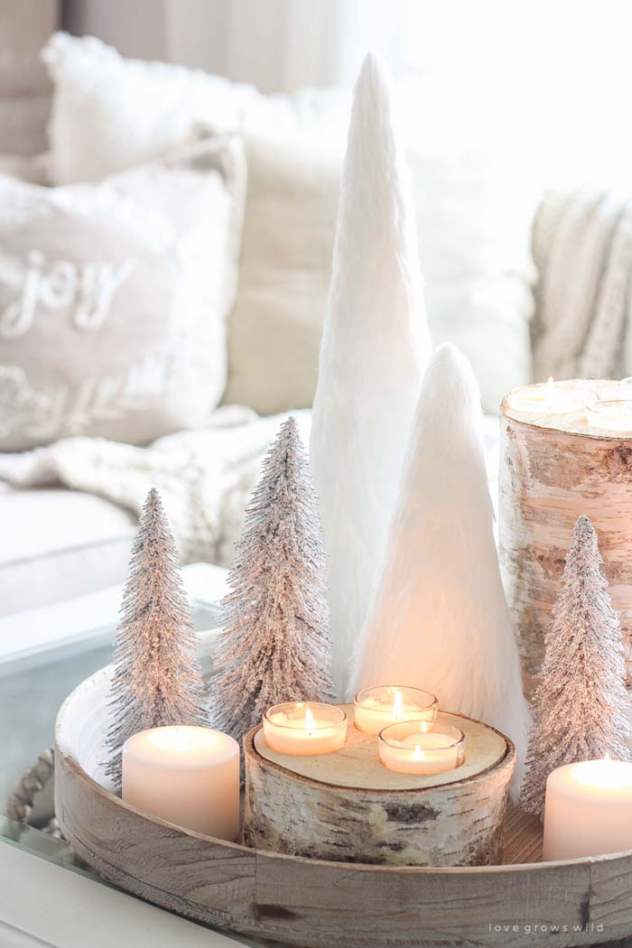Christmas in the Living Room #Christmas #cheap #elegant #decorhomeideas