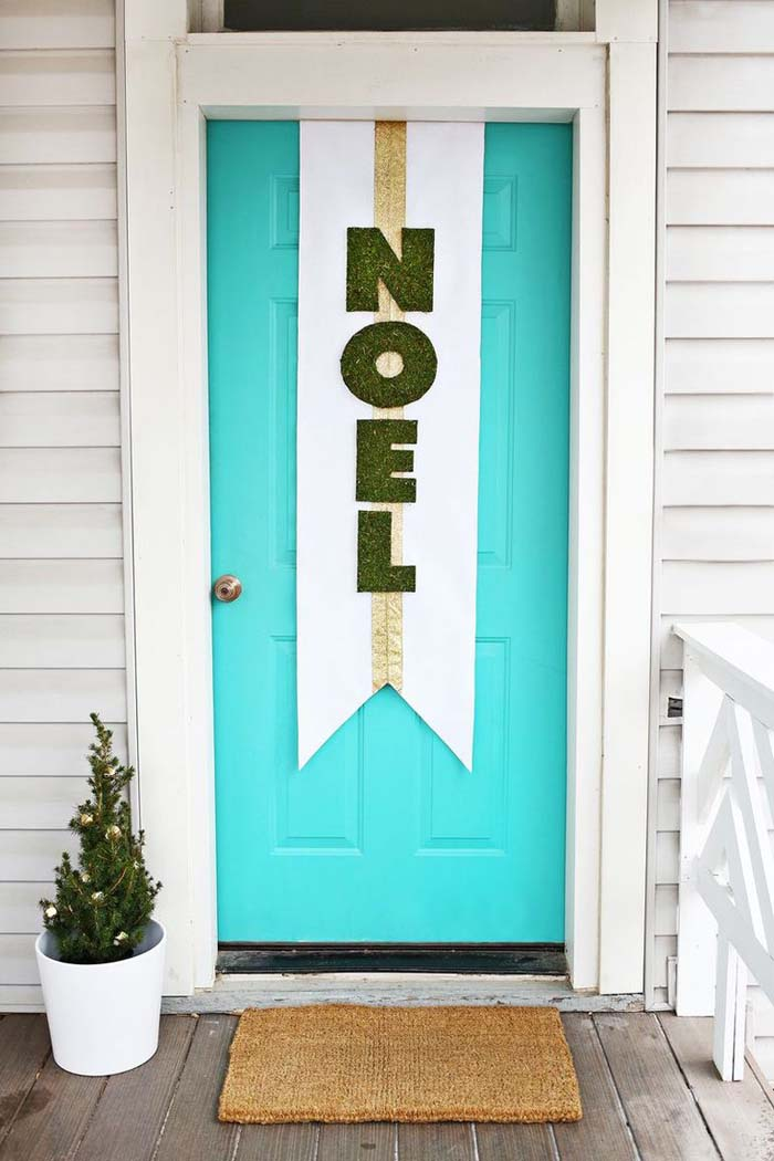Craft a Cheery Welcome #Christmas #style #decorhomeideas