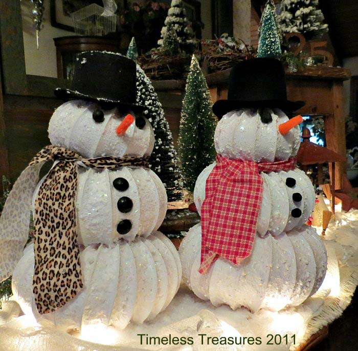 Dryer Vent Hose Snowy Snowman #Christmas #snowman #crafts #decorhomeideas