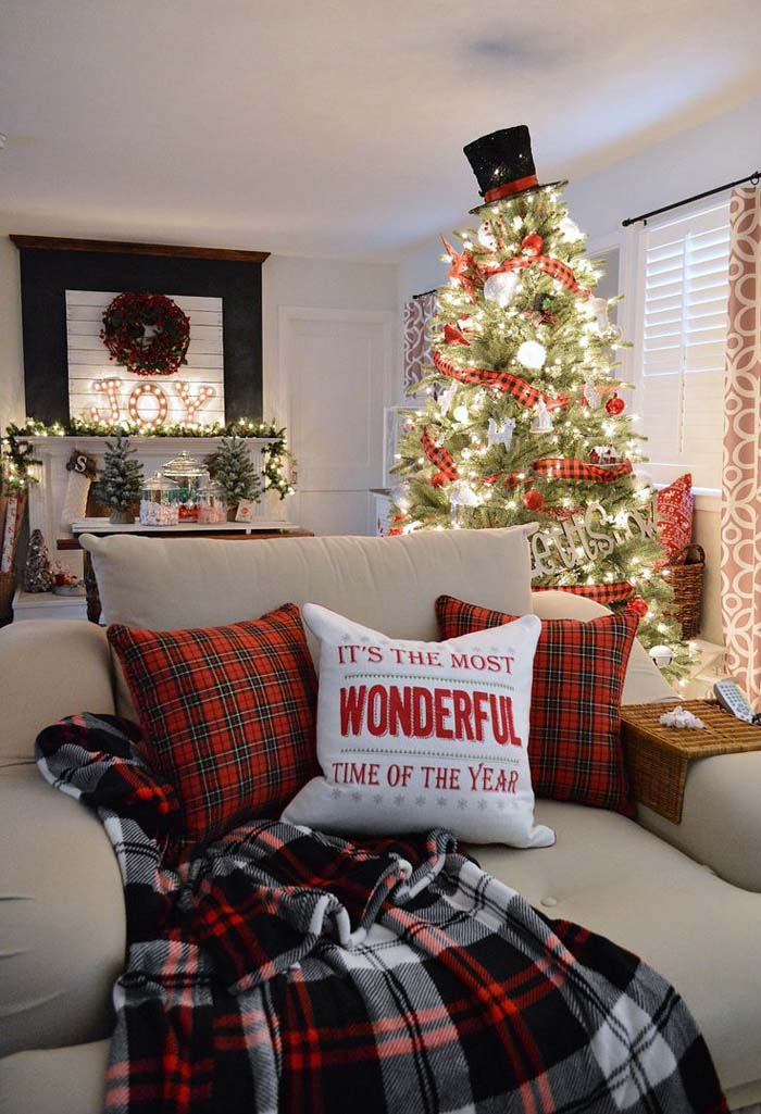Flannel Fun for the Holidays #Christmas #indoordecorations #decorhomeideas
