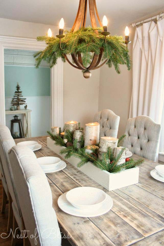Garland for the Dining Room #Christmas #indoordecorations #decorhomeideas