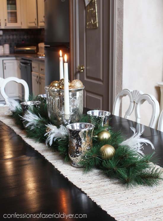 Holiday Dining Table #Christmas #cheap #elegant #decorhomeideas