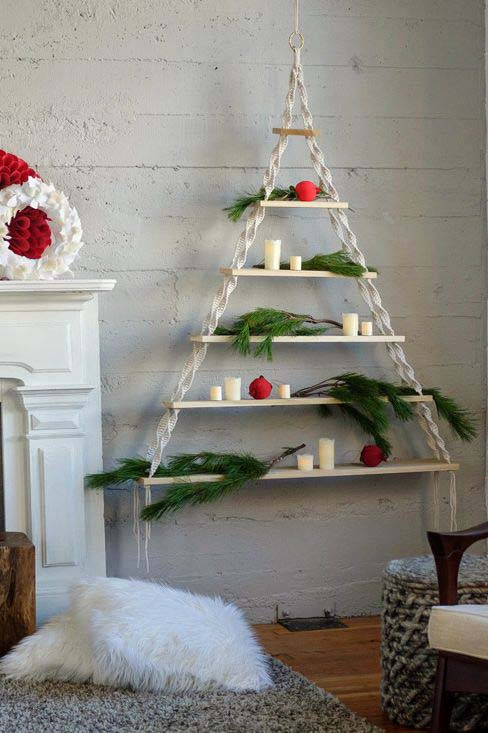 Macramé Tree #Christmas #Christmastree #nontraditional #decorhomeideas