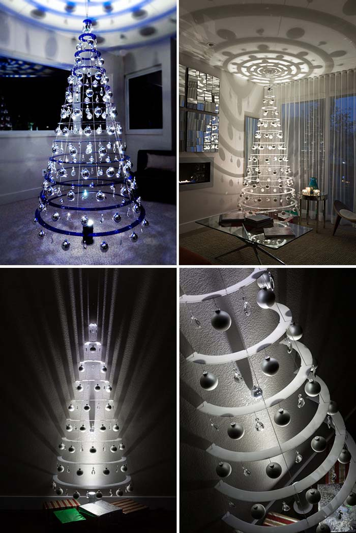 Modern Christmas Tree #Christmas #Christmastree #nontraditional #decorhomeideas
