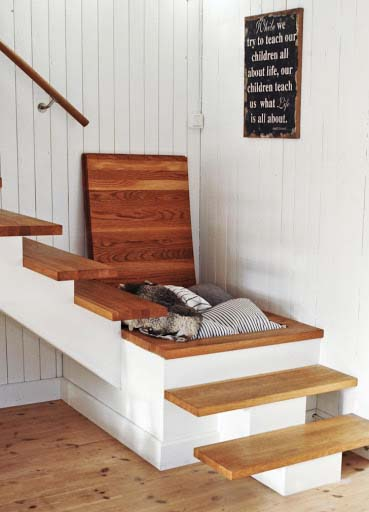 Stair Storage Compartment
