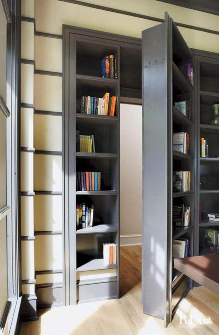Swinging Library Bookcase