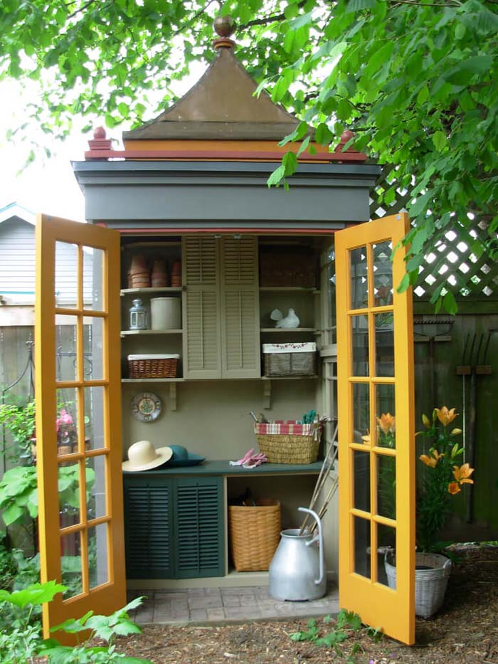 A Dainty Little Storage Space with Cabinets #shed #garden #decorhomeideas
