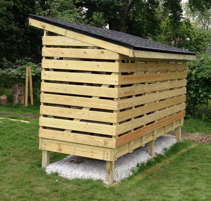 A Raised Storage Space in the Yard #shed #garden #decorhomeideas