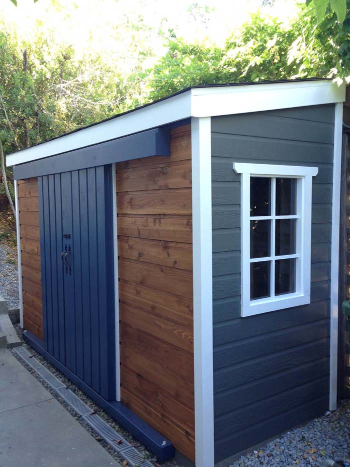 A Small Black and Tan Storage Unit #shed #garden #decorhomeideas