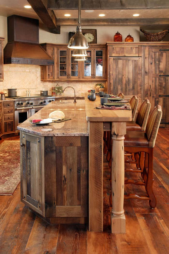 A Walk In The Woods Paneled Kitchen #rustic #kitchencabinet #decorhomeideas