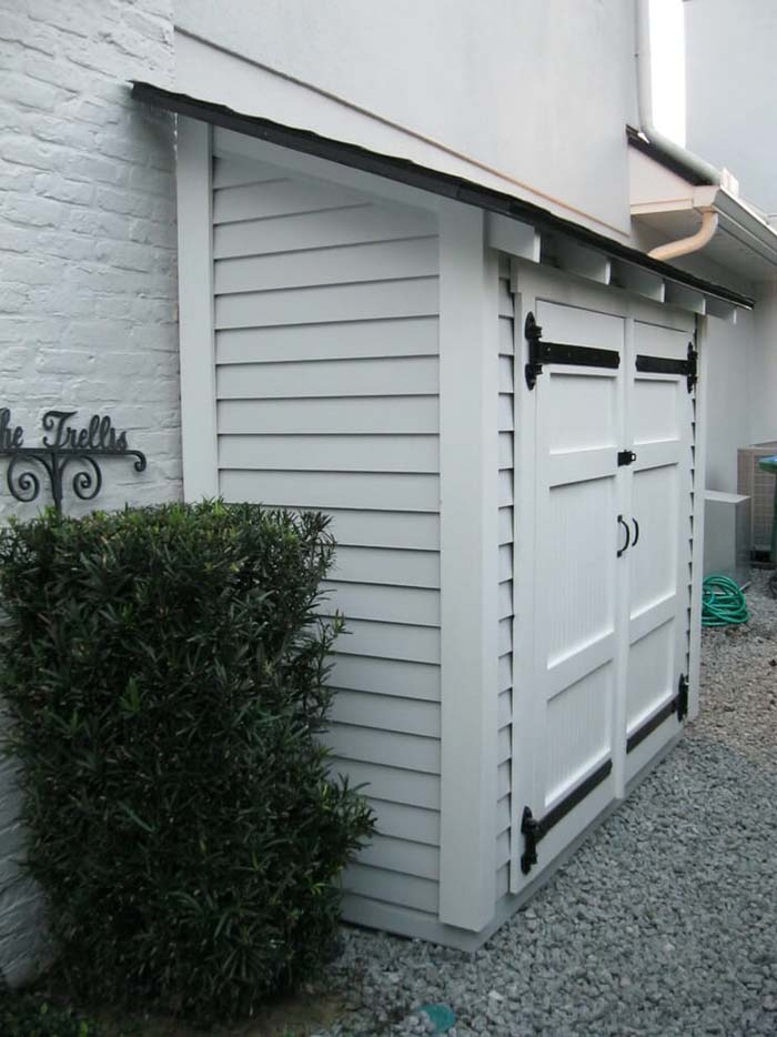 An Add-on Storage Unit for Your Home #shed #garden #decorhomeideas