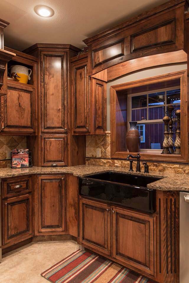 Aspen Mountain Rustic Kitchen Cabinet Décor #rustic #kitchencabinet #decorhomeideas
