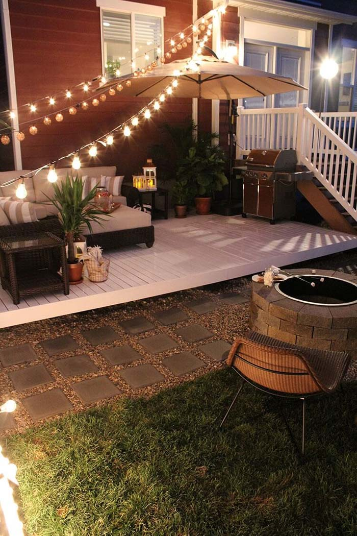 Be Creative with Single Outlet Points #lighting #yard #outdoor #decorhomeideas