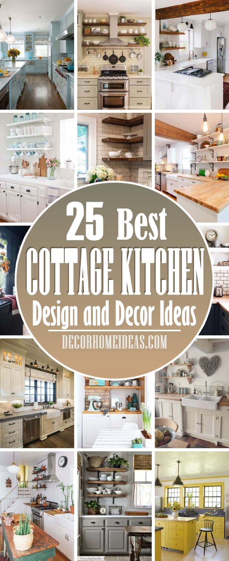 25 Charming Cottage Kitchen Design And Decorating Ideas Decor Home