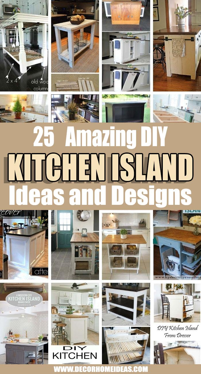 Best DIY Kitchen Island Ideas. Looking for a budget-friendly kitchen makeover project? A DIY kitchen island is the perfect solution — by making your own island, you can transform your kitchen for a fraction of the cost. #decorhomeideas