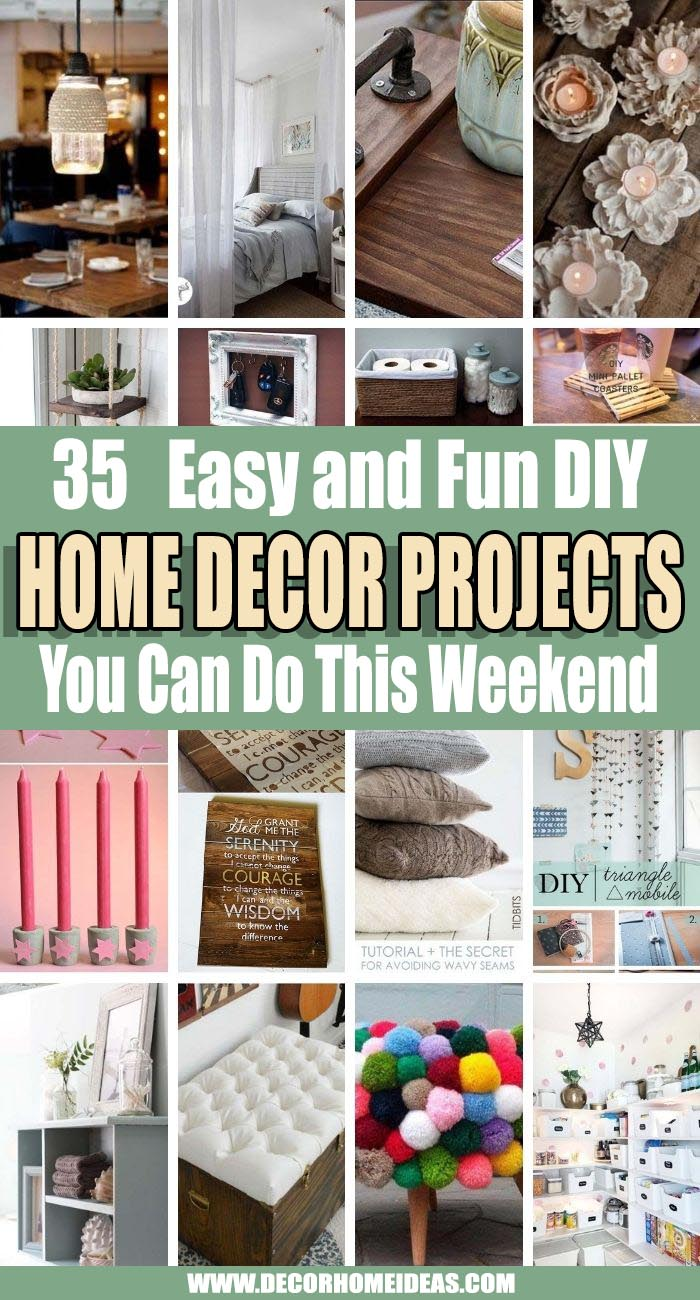 Best DIY Weekend Home Decor Projects