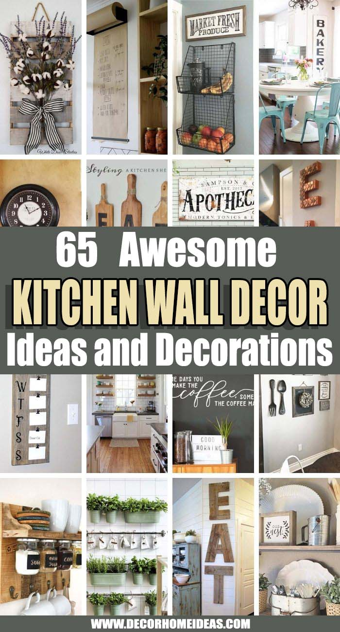 Best Kitchen Wall Decor Ideas. When it comes to kitchen wall decor ideas, it's important to find art, pictures, signs, accessories and decorations that really speak to you. We collected the best ones here. #decorhomeideas