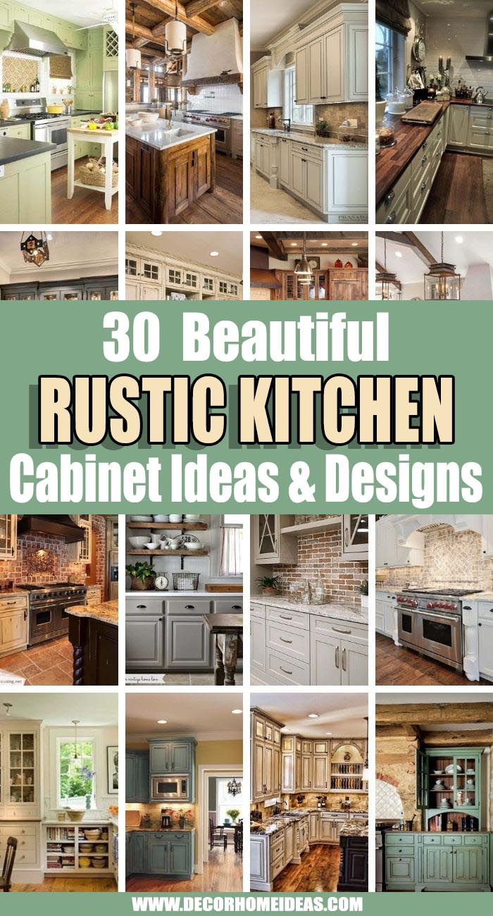 Best Rustic Kitchen Cabinets Ideas. If you are looking for the best rustic kitchen cabinet ideas we are here to help! These are by far the most amazing ideas and designs. #decorhomeideas