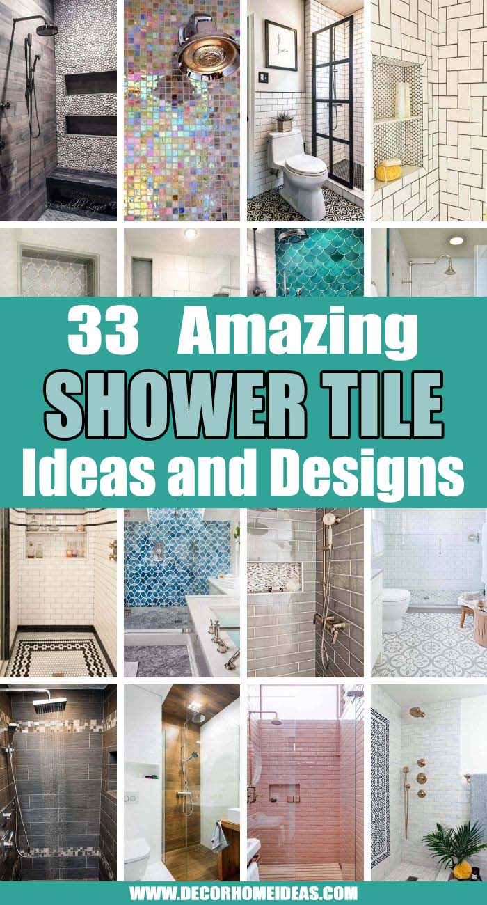 Best Shower Tile Ideas. Your shower is a canvas where you can express your unique style and create a highly functioning space at the same time. Take a look at these shower tile ideas and choose the best one. #decorhomeideas
