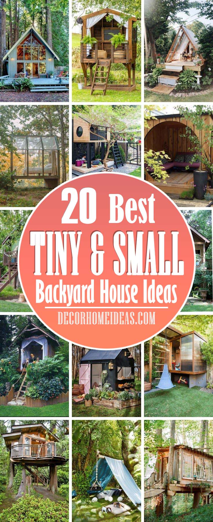 Best Small Backyard House Ideas. If you think there is something missing in your backyard why don't you add a small backyard house. It could be a perfect relaxation retreat or a place your kids would use as a place to play games. #decorhomeideas