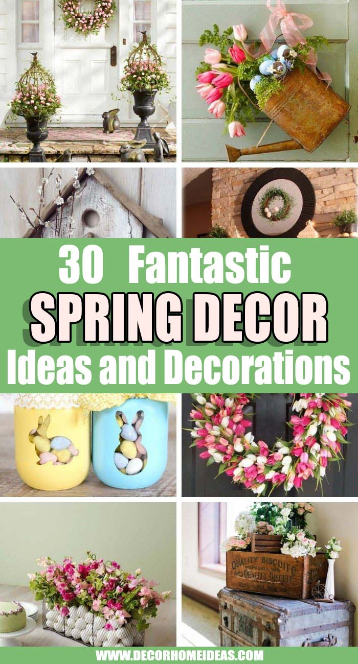 Best Spring Decor Ideas. These spring decor ideas will inspire you to make your home as cheery as the season. Dress up any space, no matter the size, with these bright and refreshing spring decorating ideas. #decorhomeideas