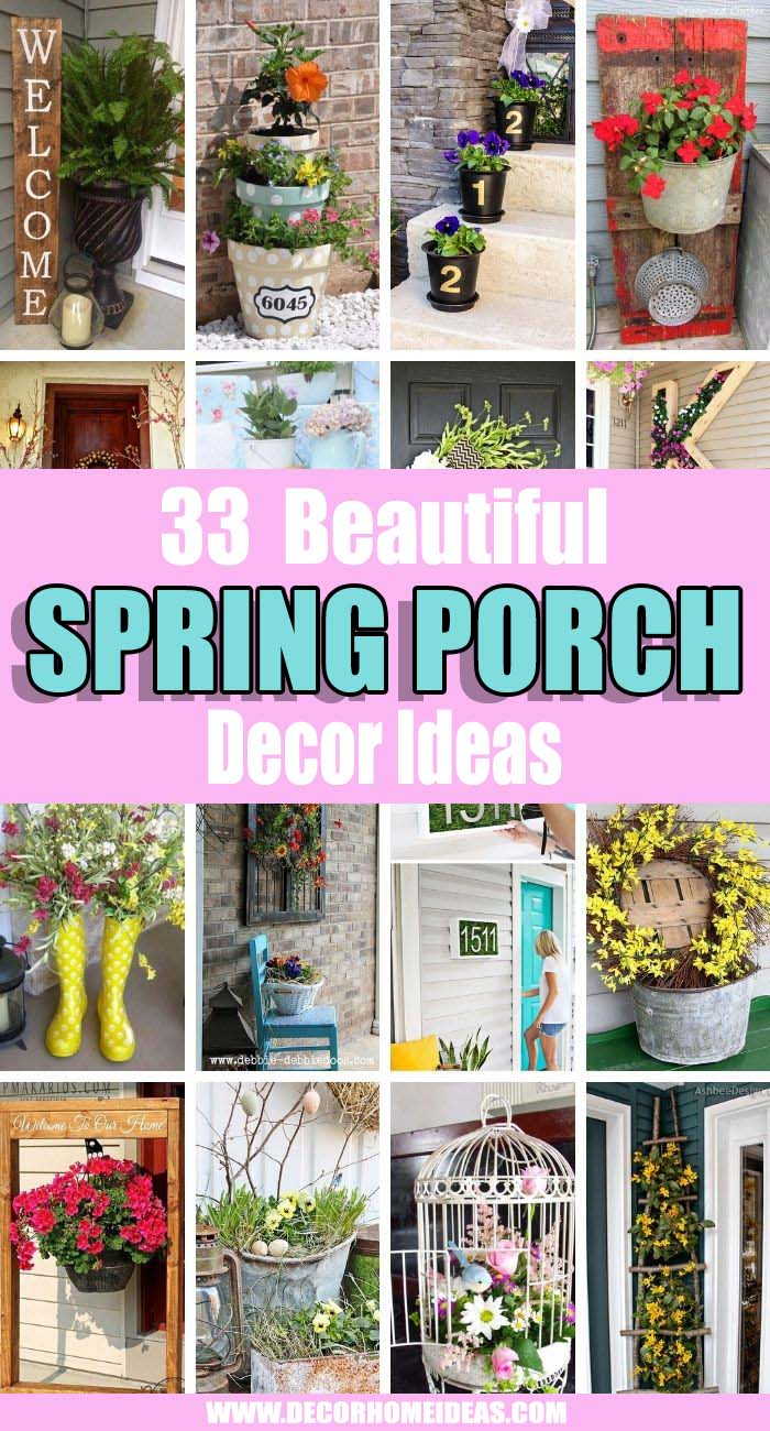 Best Spring Porch Decor Ideas. Spring is upon us and it's time to spruce up your curb appeal and get ready to sip some sweet tea with company on the front porch! We will help you decorate it the best way possible. #decorhomeideas