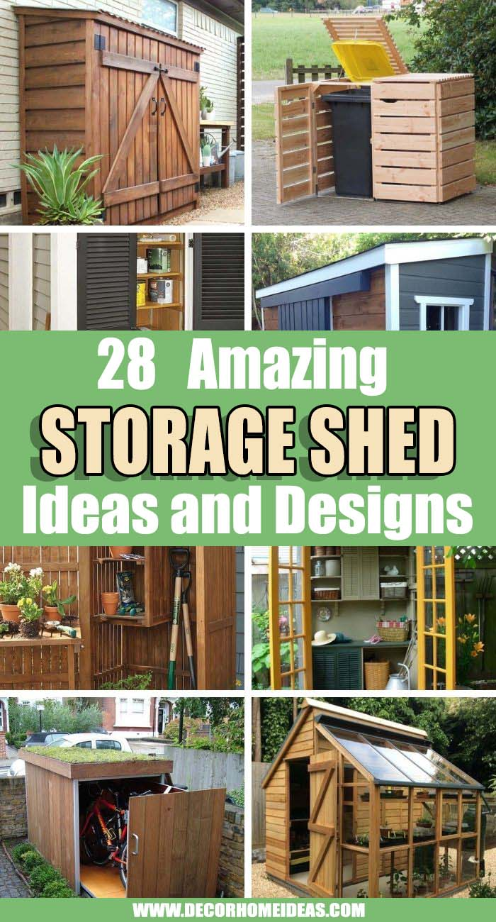 Best Storage Shed Ideas. While sheds are normally used to keep your gardening tools and landscaping items neatly tucked away, there's a whole lot of other purposes these outdoor spaces can serve. #decorhomeideas
