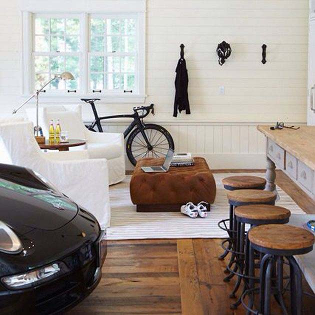 Bring the Car to the Bar #mancave #decorhomeideas