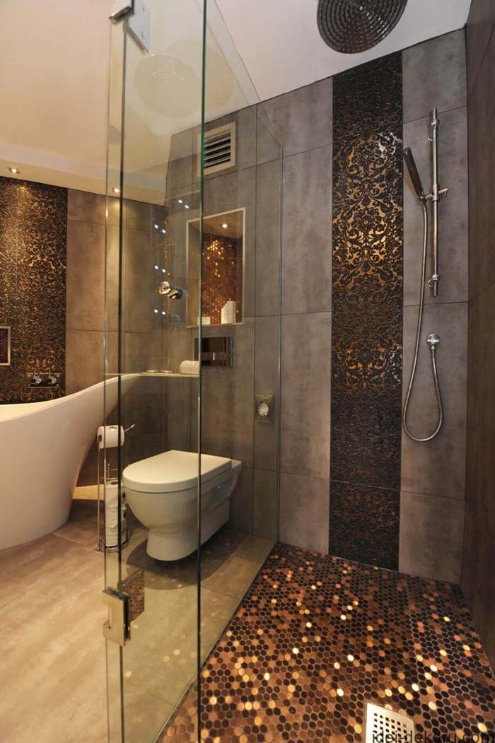 Byzantine Metals, Gold, Silver, And Copper Tiles #showertiles #tiles #decorhomeideas