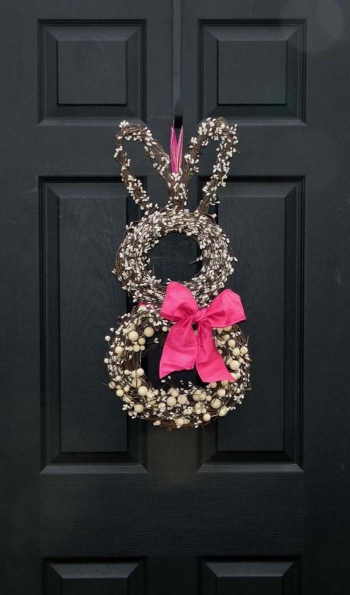 Celebrate Easter with a Charming Bunny Wreath #spring #decor #decorhomeideas