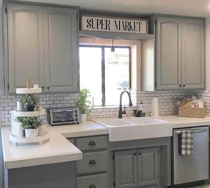 Clean, Fresh and Rustic #rustic #kitchencabinet #decorhomeideas